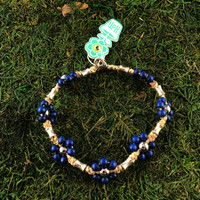 HOTI Hemp Handmade Natural Hemp Maria Signature Flower Power Anklet Navy Blue Silver Metal Beads Tube Dog Bone Beaded Ladies Women's Woman Ankle Bracelet Hand Crafted Made in Canada Made in Toronto Made in Ontario Boho Chic Clasp-It Lobster Clasp Toronto Ontario Canada Canadian
