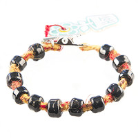 HOTI Hemp Handmade Yellow Brown Red Fuzzy Multicolour Hemp Hockey Puck Drop Black Glass Crow Beads Mens Bracelet Hand Crafted Made in Toronto Made in Ontario Made in Canada Beaded Crow Beads Opaque Glass Beads 420 Alligator Clip Roach Clip Clip It Clip Toronto Ontario Canada Canadian