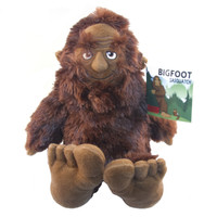"Stuffed Animal House 10"" Sasquatch Bigfoot Wild Man Creature Small Soft Brown Furry Fuzzy Big Feet Critter Canadian Wildlife Sitting Standing Legend"
