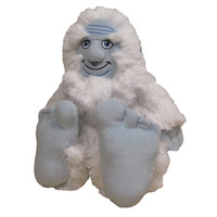 "Stuffed Animal House 10"" Snowsquatch Sasquatch Bigfoot Yeti Wild Creature Small Soft Snowy White Furry Fuzzy Icy Blue Big Feet Critter Canadian Wildlife Sitting Standing Legend"
