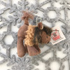 """Stuffed Animal House 2.75"""" Standing Brown Buffalo Keychain Wild North American Realistic Zipper Pull Mini Key Chain Tiny Soft Furry Fuzzy Clip Backpack Critter Wildlife Canada Soft Plush Toy WK-07A Side"""