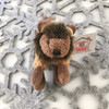 """Stuffed Animal House 2.75"""" Standing Brown Buffalo Keychain Wild North American Realistic Zipper Pull Mini Key Chain Tiny Soft Furry Fuzzy Clip Backpack Critter Wildlife Canada Soft Plush Toy WK-07A Front"""