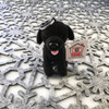 """Stuffed Animal House 4"""" Sitting Black Newfoundland Dog Keychain Wild North American Realistic Zipper Pull Mini Key Chain Tiny Soft Furry Fuzzy Clip Backpack Critter Canine Pet Puppy Doggie Canada Soft Plush Pup Toy ND-99 Front"""
