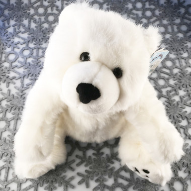 "Stuffed Animal House 21"" White Polar Bear Floppy FloppyFoot Soft Northern Wildlife Cuddly Cute Adorable Wild Plush Toy FW-11 Rare"