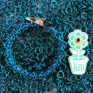 HOTI Hemp Handmade Turquoise Blue Brass Chain Link Maille Ladies Womens Chainmaille Linked Chains Bracelet Made in Canada Hand Crafted Made in Toronto Made in Ontario Celtic Medieval Valentine Halloween Clip-It 420 Marijuana Cannabis Alligator Clip Clasp Roach Clip Rock Toronto Ontario Canada Rings