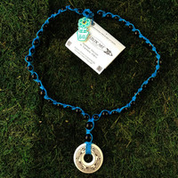 HOTI Hemp Handmade Dolphins Nehalennia Celtic Art Annulus Fine Porcelain Dolphin Travelers Pendant Donut Black Wood Beads Turquoise Hemp Beaded Ladies Women's Collection Knotted Round Bead Long Necklace Y Shaped Touchstone Pottery Spiral Twisted Hand Crafted Made in Toronto Made in Ontario Made in Canada Boho Chic Beaded Toronto Ontario Canada Canadian Made