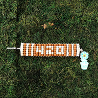 HOTI Hemp 420 Handmade Brown Natural Beige Beaded Roach Clip Cuff Bracelet Wood Crow Beads Ladies Womens Mens Unisex Woven Knotted Lightweight Stripes Made in Canada Hand Crafted Made in Toronto Made in Ontario 4:20 4/20 Marijuana Jewellery Cannabis Jewelry Weed Accessories Pot Accessory Alligator Clip Clasp Toronto Ontario Canada Canadian Number Time