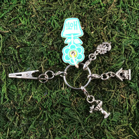HOTI Handmade Bird Watcher Backyard Birder Keyfinder Keychain Roach Clip Key Chain Bird House Bath Daisy Flower Antique Silver Pewter Metal Charm Ladies Womens Mens Unisex Charms Charming Collection Made in Canada Hand Crafted Made in Toronto Made in Ontario Lobster Claw Clasps Clip 420 Cannabis Accessory Marijuana Weed Pot Accessories Clip-It Alligator Clip Toronto Ontario Canada Canadian