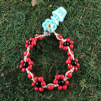 HOTI Hemp Handmade Beige Natural Hemp Daisy Chain Signature Flower Power Anklet Black Red Wood Round Beads Beaded Flowers Floral Ladies Women's Jewellery Woman Girls Ankle Bracelet Hand Crafted Made in Canada Made in Toronto Made in Ontario Boho Chic Clasp-It Lobster Claw Clasp Toronto Ontario Canada Canadian Jewelry