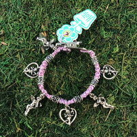 HOTI Hemp Handmade Pale Light Purple Classic Love Rocks Roach Clip Charm Bracelet Fancy Metal Tube Beads Ladies Woman Women's Hand Crafted Victorian Made in Canada Made in Toronto Made in Ontario Boho Hippie Chic Beaded Cupid Heart Winged Angel Charms Valentine's Day Jewellery Valentine Marijuana Mary Jane Cannabis Accessories Weed Pot Accessory 420 Dope Stoner Gift Clip-It Alligator Clip Clasp Toronto Ontario Canada Canadian Jewelry