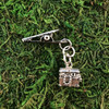 HOTI Hemp Handmade Treasure Chest Pewter Underwater Buried Fantasy Antique Silver Roach Clip Dangling Metal Women's Ladies Woman Her Unisex Men's Man Charm Handcrafted Made in Toronto Made in Ontario Made in Canada Charming Collection Marijuana Weed 420 Alligator Clips Mary Jane Pot Cannabis Clip It Dope Gifts Stoner Gift Toronto Ontario Canada Canadian