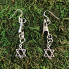 HOTI Hemp Handmade Star of David Jewish Passover Hanukkah Antique Silver Sterling Roach Clip Earrings Ear Wires Dangling Metal Women's Ladies Woman Her Charm Handcrafted Made in Toronto Made in Ontario Made in Canada Charming Collection Marijuana Weed 420 Alligator Clips Roach Clips Mary Jane Pot Cannabis Clip It Dope Gifts Stoner Gift Toronto Ontario Canada Canadian