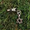 HOTI Hemp Handmade Star of David Jewish Passover Hanukkah Antique Silver Roach Clip Dangling Metal Women's Ladies Woman Her Unisex Men's Man Charm Handcrafted Made in Toronto Made in Ontario Made in Canada Charming Collection Marijuana Weed 420 Alligator Clips Mary Jane Pot Cannabis Clip It Dope Gifts Stoner Gift Toronto Ontario Canada Canadian