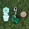 HOTI Handmade Rock Star Green Marble Guitar Pick Music Key Chain Musical Plastic Punched Charm Ladies Women's Men's Unisex Charms Charming Collection Made in Canada Hand Crafted Made in Toronto Made in Ontario Lobster Claw Clasp Toronto Ontario Canada Canadian