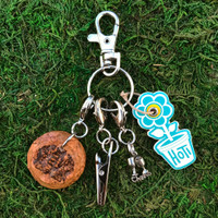 HOTI Handmade Cheers Cups Hungaria Sparkling Wine Celebration Keyfinder Keychain Roach Clip Charms Key Chain Repurposed Cork Upcycled Reused Used Antique Silver Pewter Metal Charm Ladies Women's Men's Unisex Charming Collection Made in Canada Hand Crafted Made in Toronto Made in Ontario Lobster Claw Clasps Swivel Clip 420 Cannabis Accessory Marijuana Weed Pot Accessories Clip-It Alligator Clip Dope Stoner Gift Toronto Ontario Canada Canadian