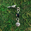 HOTI Hemp Handmade Black Glass Heart Hearts Metal Bead Antique Silver Roach Clip Dangling Metal Women's Ladies Woman Her Unisex Men's Man Charm Handcrafted Made in Toronto Made in Ontario Made in Canada Charming Collection Marijuana Weed 420 Alligator Clips Mary Jane Pot Cannabis Clip It Dope Gifts Stoner Gift Toronto Ontario Canada Canadian