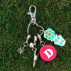 HOTI Hemp Handmade Custom Pink White Capital Letter Initial Monogram Upper Case Font Marijuana Leaf Engraved Hearts Love Champagne Sparkling Wine Keyfinder Keychain Roach Clip Charms Key Chain Repurposed Cork Upcycled Reused Used Antique Silver Metal Heart Hemp Leaf Ladies Women's Men's Unisex Charming Collection Made in Canada Hand Crafted Made in Toronto Made in Ontario Lobster Claw Clasps Swivel Clip 420 Cannabis Accessory Marijuana Weed Pot Accessories Clip-It Alligator Clip Dope Stoner Gift Toronto Ontario Canada Canadian