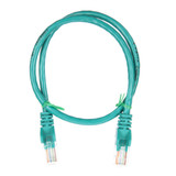 0.5m RJ45 Cat5e Cable Green Snagless