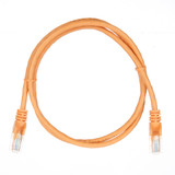 1m RJ45 Cat5e Cable Orange Snagless