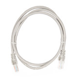 1m RJ45 Cat5e Cable Grey Snagless