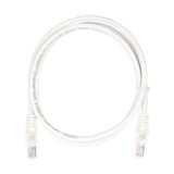 1m RJ45 Cat5e Cable White Snagless