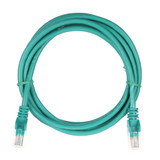 2m RJ45 Cat5e Cable Green Snagless