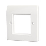 2 Module Rounded Faceplate Wall Outlet Module