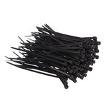 3mm x 100mm Cable Ties Black