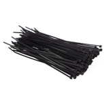 4mm x 200mm Cable Ties Black