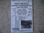 Ghost Town Maps Sites Then and Now New Mexico Treasure