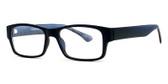 Soho 1019 in Matte Black Designer Eyeglasses :: Rx Bi-Focal