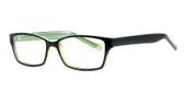 Soho 1020 in Black-Green Designer Eyeglasses :: Rx Bi-Focal