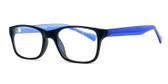 Soho 122 in Matte Black Designer Eyeglasses :: Rx Bi-Focal