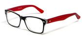 Soho 1014 in Black-Red Designer Eyeglass Frames :: Rx Bi-Focal