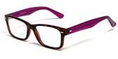 Soho 1014 in Demi Tortoise & Purple Designer Eyeglass Frames :: Rx Bi-Focal