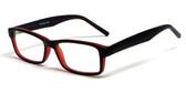 Soho 1015 in Black-Wine Designer Eyeglass Frames :: Rx Bi-Focal