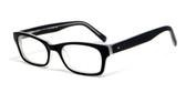 Calabria Viv Designer Eyeglasses 783 in Matte-Black Crystal :: Rx Bi-Focal