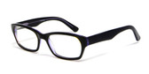 Calabria Viv Designer Eyeglasses 803 in Black & Purple :: Rx Bi-Focal