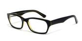 Calabria Viv Designer Eyeglasses 803 in Black & Yellow :: Rx Bi-Focal