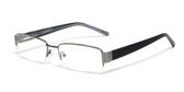 Calabria Expressions Designer Eyeglasses 1084 in Gun-Metal :: Rx Bi-Focal