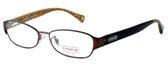 Coach Womens Designer Eyeglasses 5018 in Satin Brown (9076) :: Rx Bi-Focal