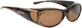 Jonathan Paul® Fitovers Eyewear Small Aurora in Brown-Marble & Amber AR008A