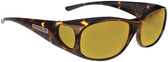 Jonathan Paul® Fitovers Eyewear Medium Element in Tortoise & Yellow EM007Y