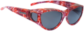 Jonathan Paul® Fitovers Eyewear Medium Ikara in Berry-Crush & Gray IK002