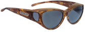 Jonathan Paul® Fitovers Eyewear Medium Ikara in Tiger-Eye & Gray IK003
