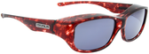 Jonathan Paul® Fitovers Eyewear Medium Queeda in Claret-Tortoise & Gray QS004