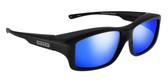 Jonathan Paul® Fitovers Eyewear X-Large Yamba in Satin-Black & Blue Mirror YM001BM