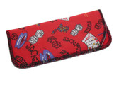 Small Casino Styled Soft Eyeglass Case 4167