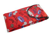 Large Casino Styled Soft Eyeglass Case Large Enough for Two Frames 4166