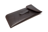 Mens Soft Eyeglass Clip Case w/ Flap